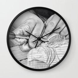 Wood Carving Wall Clock