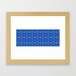 Divine Diamond Morning Glory Blues Framed Art Print