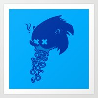 sonic Art Prints featuring Sonic by La Manette