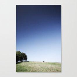 man & dog Canvas Print