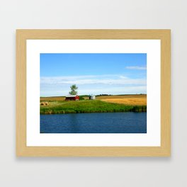Lone Barn Framed Art Print