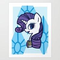 Lady Rarity Art Print