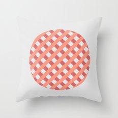 striped circle I Throw Pillow