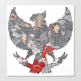 amazing culture of indonesia Canvas Print