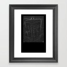 blue box division Framed Art Print