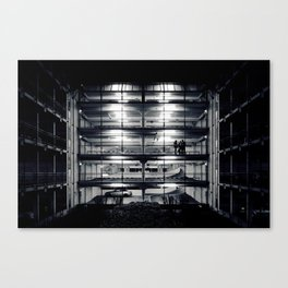 Perfect light in a lonely car park Canvas Print