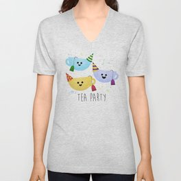 Tea Party Unisex V-Neck