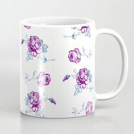 Rose Pattern #2 #floral #drawing #decor #art #society6 Coffee Mug
