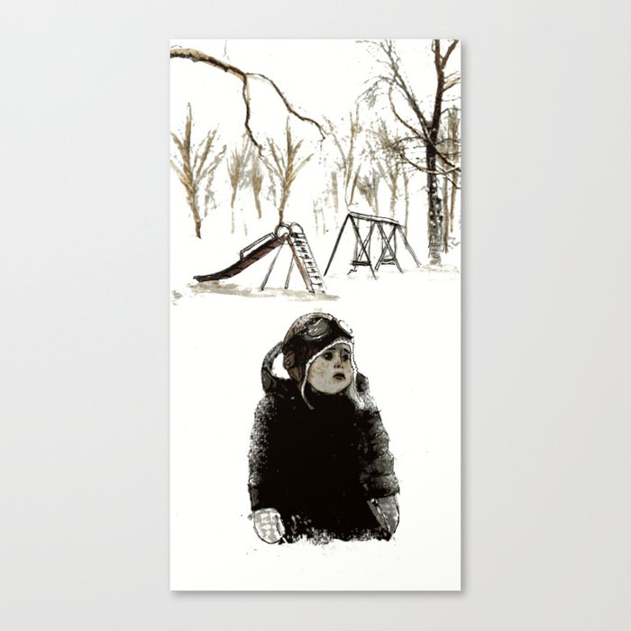 Forever, in Pieces - Illustration Canvas Print