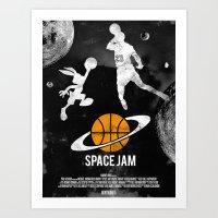 Redone Space Jam Movie Poster  Art Print