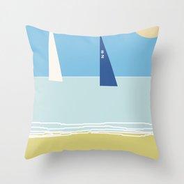 Sails champions Throw Pillow