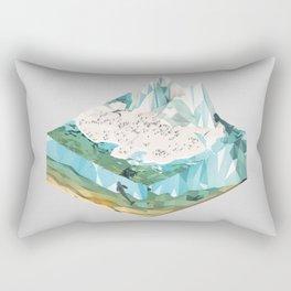 Low Poly Arctic Scenes - King Penguins (Isometric) Rectangular Pillow