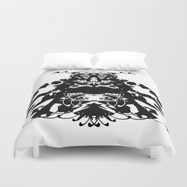 Moustached Knight Duvet Cover