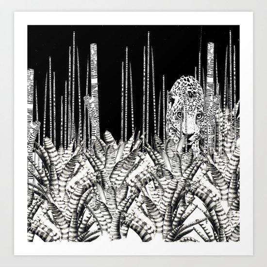 Camouflage UZU JUNGLE Art Print