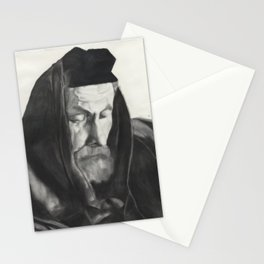 Rabbi praying with Tefillin Stationery Cards