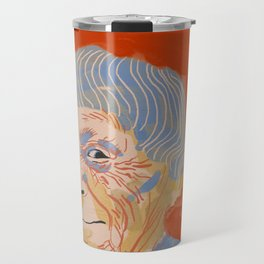 Ursula K. Le Guin portrait + quote Travel Mug