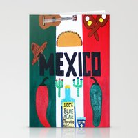 mexico Stationery Cards featuring Mexico by Jake Hollywood