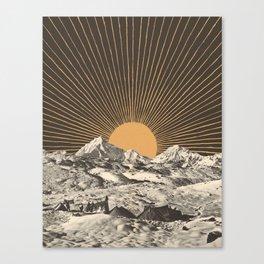 Mountainscape 6 - Night Sun Canvas Print