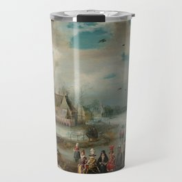 "Adam van Breen ""Skating on the Frozen Amstel River, 1611"" Travel Mug"