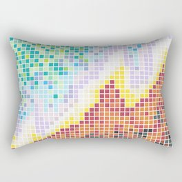 Pixelated Nebula Red Rectangular Pillow