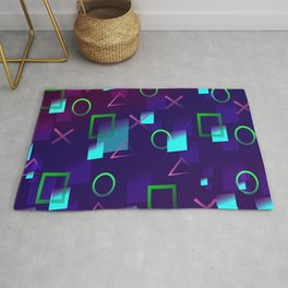 Abstract Play Station 4 Controller Buttons Rug