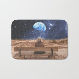 PLANET EARTH, THE UNIVERSE AND I Bath Mat