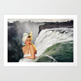 Waterfall Pinup iii Art Print