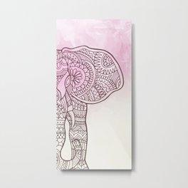 Elephant Hena Metal Print