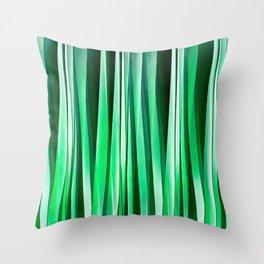 Aquamarine Ocean Stripy Pattern Throw Pillow