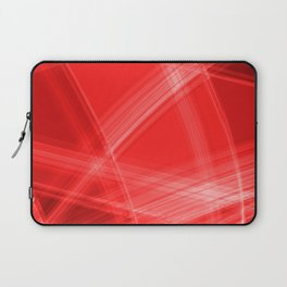 Light strokes with red diagonal lines from intersecting glowing bright energy waves. Laptop Sleeve