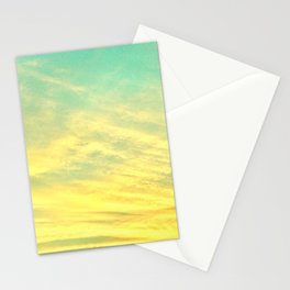 Green Yellow Sunset Stationery Cards