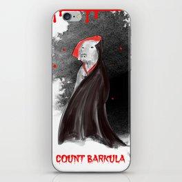 COUNT BARKULA iPhone Skin