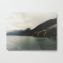 // that evening crossing the strait // Metal Print