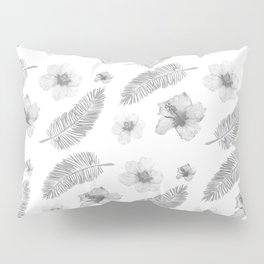 Hibiscus and Feathers Lite Pillow Sham