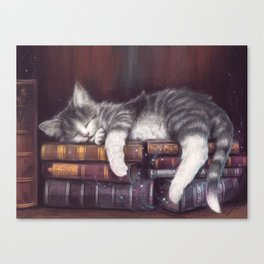 Keeper of the Books Canvas Print