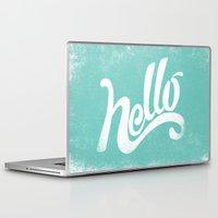 hello Laptop & iPad Skins featuring HELLO by Matthew Taylor Wilson