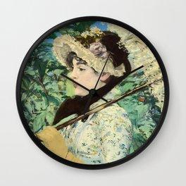 Manet's Jeanne Wall Clock