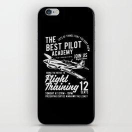 the best pilot academy iPhone Skin