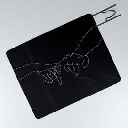 Black Pinky Swear Picnic Blanket