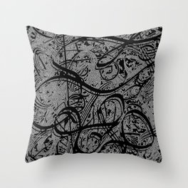 Doodle Abstraction  Throw Pillow