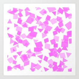 Festive Pink Confetti Art Print