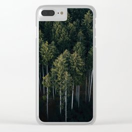 Aerial Photograph of a pine forest in Germany - Landscape Photography Clear iPhone Case