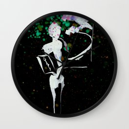 A Tarot of Ink 11 Page of Wands Wall Clock