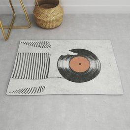 Vinyl record head ... Rug