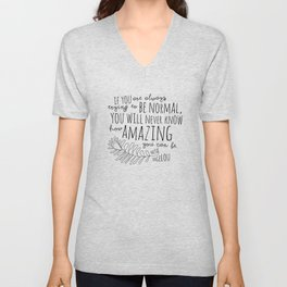 Inspirational Art Print // Maya Angelou Quote // How Amazing You Can Be Typographic Print // Modern Unisex V-Neck