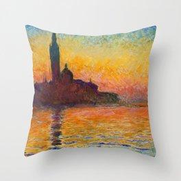 "Claude Monet ""San Giorgio Maggiore at Dusk"" Throw Pillow"