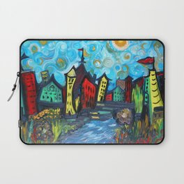 Primary color Cityscape Laptop Sleeve