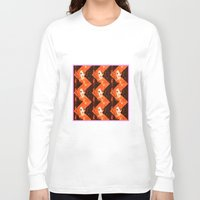 herringbone Long Sleeve T-shirts featuring Herringbone#3 by ArtLoveHope