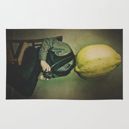 Lemonhead Photographer Portrait Rug