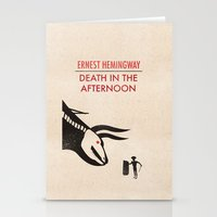 hemingway Stationery Cards featuring Death in the afternoon by Wharton